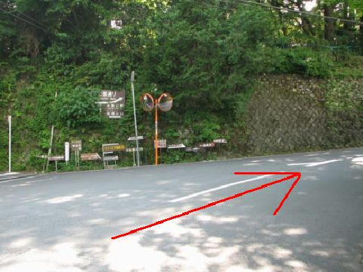 公園下駅からの道のり2
